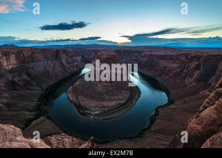 Horseshoe Bend méandre de la rivière Colorado Page en Arizona Banque D'Images