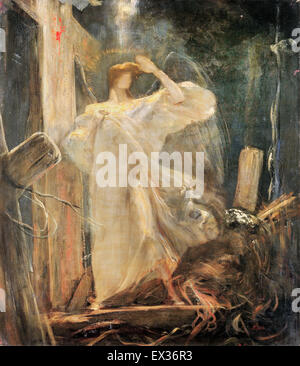 Nikolaos Gyzis, Archange, Étude pour le fondement de la Foi. 1894-1895 Huile sur toile. Musée Benaki, Athènes, Grèce. Banque D'Images