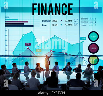 Finance argent voyage business lucratif Concept Banque D'Images