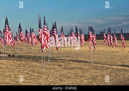 4 juillet honorant drapeau 'notre' troupes. Banque D'Images