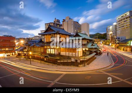 Matsuyama, Japon à Dogo Onsen. Banque D'Images