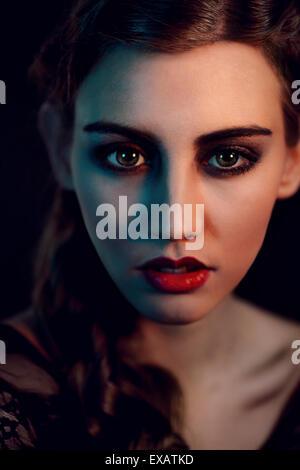 Femme, jeune, portrait, Banque D'Images