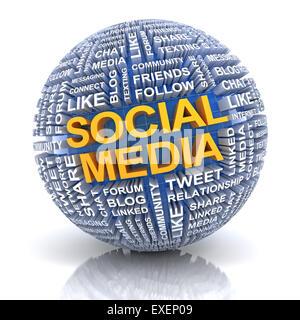 Concept des médias sociaux Banque D'Images