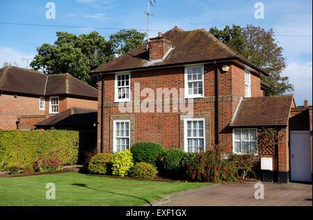 Link maison individuelle à Welwyn Garden City Banque D'Images