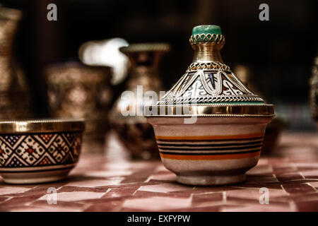Céramique d'art marocain Banque D'Images
