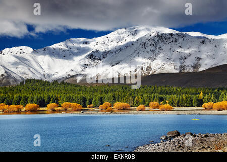 Paysage de montagne, Lake Tekapo, Nouvelle-Zélande