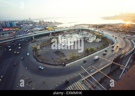 Le Bandra flyover bridge Bombay Mumbai Maharashtra Inde Banque D'Images