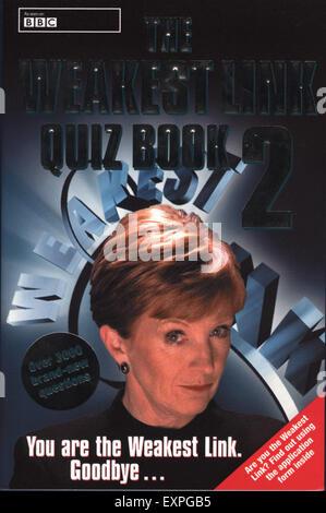 2000s UK Le Maillon Quizzes Couverture de livre Banque D'Images