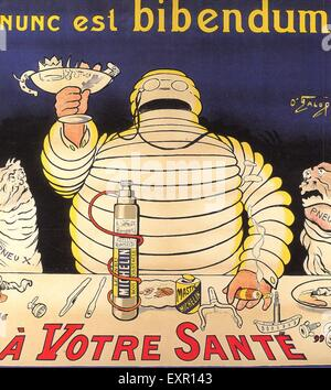 Années 1900, la France affiche de Michelin Banque D'Images