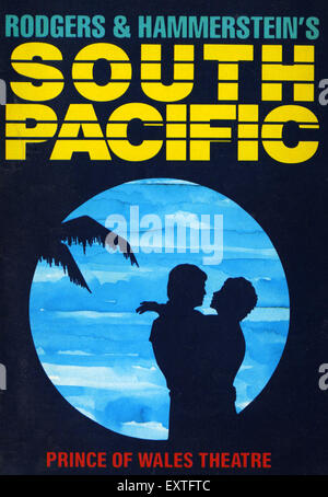 1980 UK Affiche du Pacifique Sud Banque D'Images
