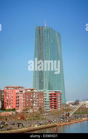 Eurotower du nouveau EZB, Frankfurt am Main, Hesse, Germany, Europe