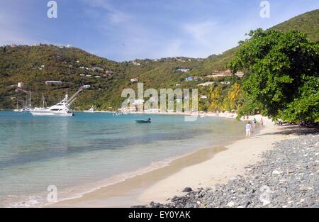 Cane Garden Bay, Tortola, Îles Vierges Britanniques Banque D'Images