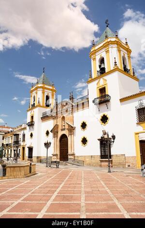 Église Notre Dame de Socorro à Ronda (Espagne) Banque D'Images