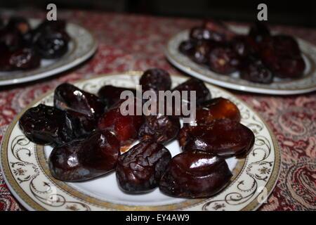 Dates pour l'iftar de Ramadan Banque D'Images