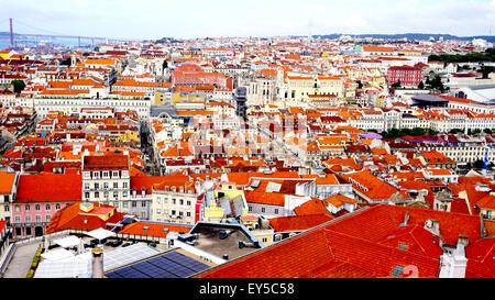 La vieille ville de château st. Jorge Portugal Lisbonne Banque D'Images