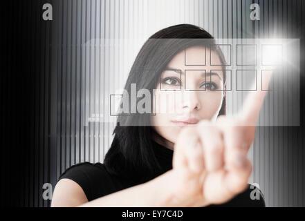Bouton d'écran de femme