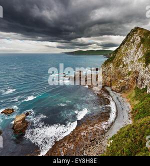 Vue côtière, Côte Catlins, Nouvelle-Zélande Banque D'Images