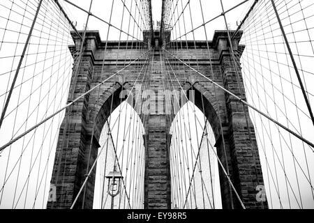 Pont de Brooklyn - monochrome