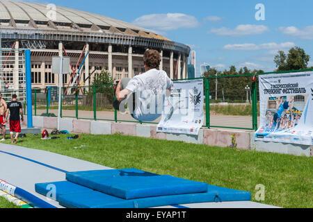 Moscou, Russie. Le 25 juillet, 2015. Jeux de la ville de Moscou en 2015 festival du sport a eu lieu au Complexe Banque D'Images