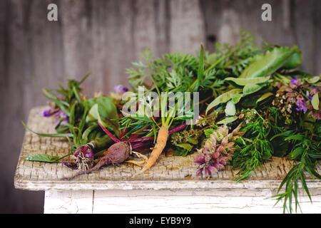 Herbes et légumes Banque D'Images