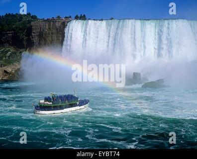 Amérique du Nord Canada Ontario Niagara Falls Chutes du Niagara Maid of the Mist boat tour Banque D'Images