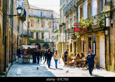 Street. Santiago de Compostela. La Corogne, Galice, Espagne, Europe.