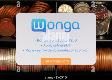 Carte d'invitation prêt Wonga