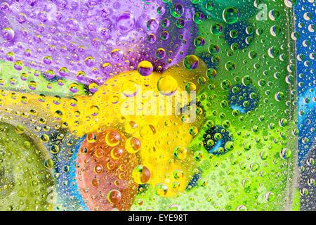Goutte d'eau, goutte, goutte de fond coloré Banque D'Images