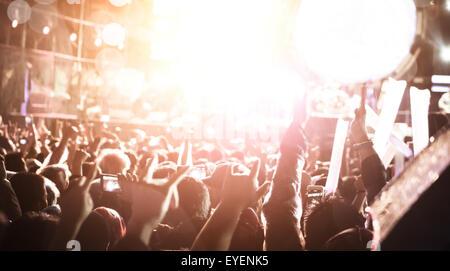 De concert axé sur la foule,les concerts de fond.
