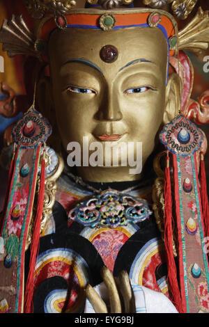 La Mongolie, Zuu Monastère; Kharkhorin, statue bouddhiste Banque D'Images