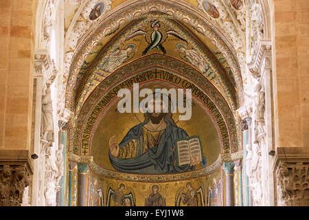 Mosaïque, cathédrale, Cefalù, Sicile, Italie