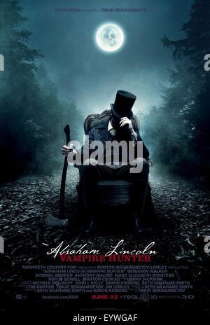 Abraham Lincoln: Vampire Hunter; Année: 2012; USA Réalisateur: Timur Bekmambetov; film poster (USA) Banque D'Images