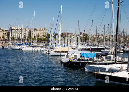 Port de plaisance de Barcelone, Barcelone, Catalogne, Espagne, Europe