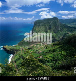 Eagle Rock (Penha de Aguia), Faial, Madeira, Portugal, Europe, Atlantique Banque D'Images