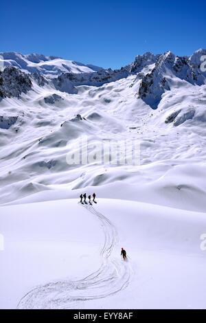 Le ski en montagne Paysage, France, Savoie, Vanoise, Courchevel Banque D'Images