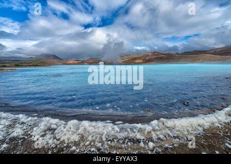 Zone géothermique, l'Islande Hverir Banque D'Images