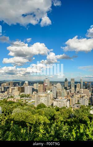 Toits de Montréal Mont-Royal Belvedere Banque D'Images