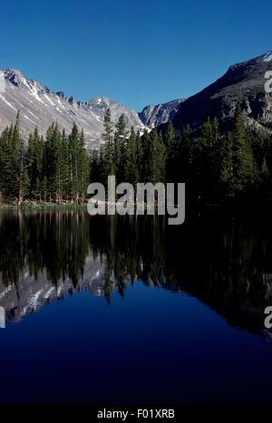 Lac de l'ours, Rocky Mountain National Park, Colorado, États-Unis d'Amérique. Banque D'Images
