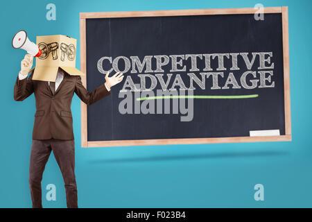 Image composite des anonymous businessman holding a megaphone Banque D'Images