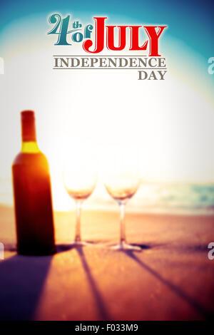 Image composite de l'indépendance jour graphic Banque D'Images