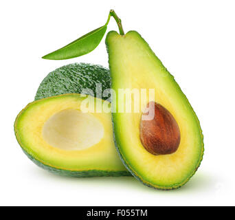 Avocado isolated on white Banque D'Images
