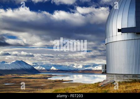 Vue depuis le mont John Observatory, le Lac Tekapo, Mackenzie Country, Nouvelle-Zélande Banque D'Images