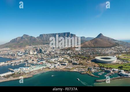 Vue aérienne de Cape Town, Western Cape Province, République d'Afrique du Sud
