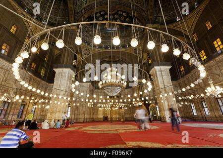 Les gens de Muhammad Ali La Mosquée Bleue prix, Le Caire, Egypte Banque D'Images