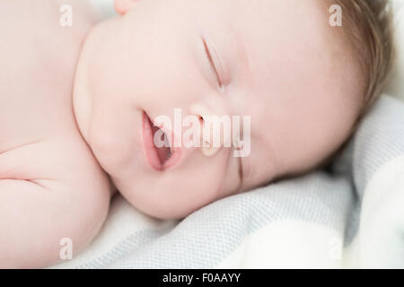 Close up of baby sleeping Banque D'Images