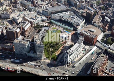 Vue aérienne du parc Chavasse à Liverpool, Royaume-Uni Banque D'Images