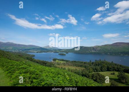 L'avis de Derwentwater de Catbells est tombé près de Keswick dans le Lake District Banque D'Images