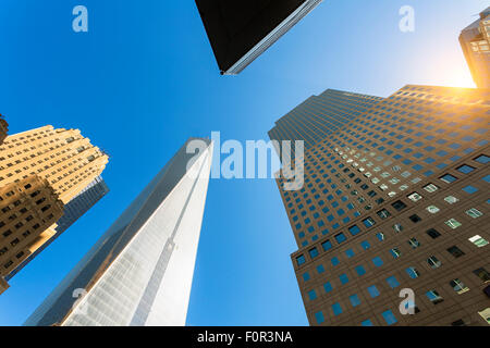 La ville de New York, One World Trade Center Banque D'Images