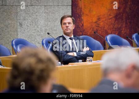 La Haye, Pays-Bas. Août 19, 2015. Le mercredi le parlement néerlandais a été admis au débat sur la contribution Banque D'Images