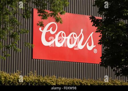 La brasserie Coors signer Burton upon Trent Banque D'Images